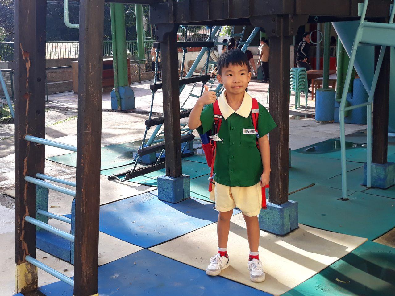 セブ島のインターナショナル幼稚園と息子
