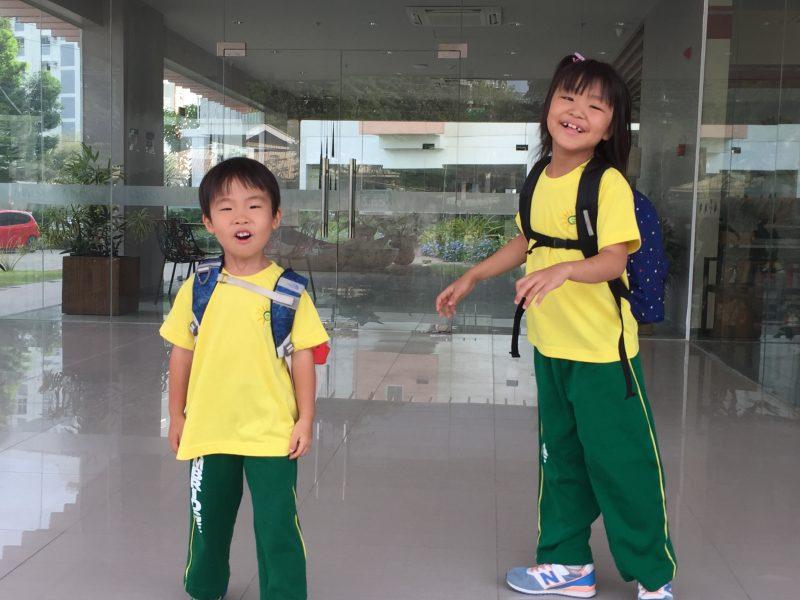 セブ島のインターナショナル幼稚園の体操服