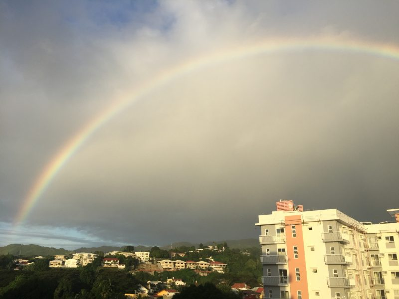 セブ島 虹